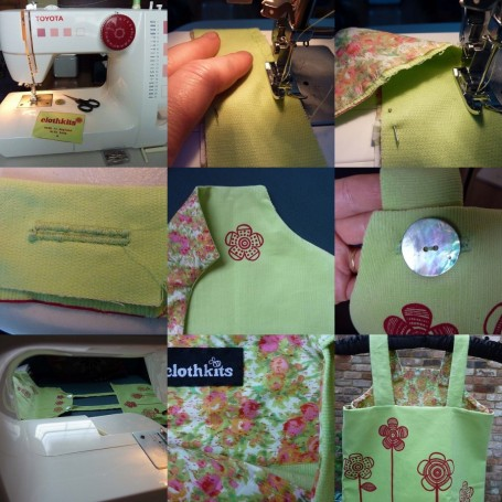 MOSAIC - sewing up pinny