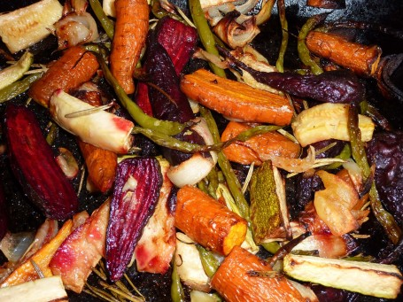 roasted veg - cooked
