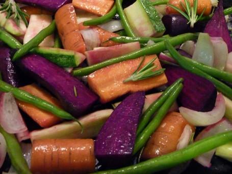 roasted veg - raw