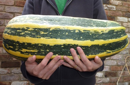 George holding monster marrow
