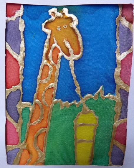 Jasmin silk painted giraffe