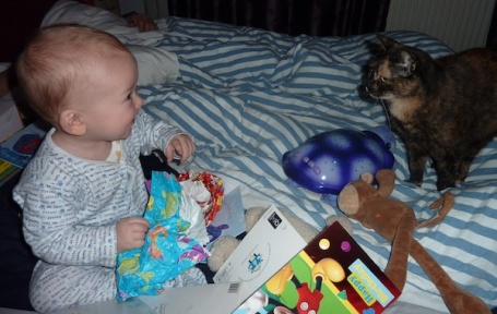 18-1-13 - birthday present opening with Poppet 4B
