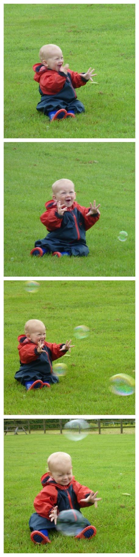 Catching bubbles portrait