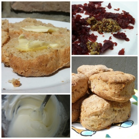Collage heart scones