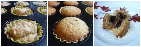 Jam cupcakes collage
