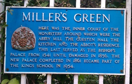 walk to work Millers Green sign 4B