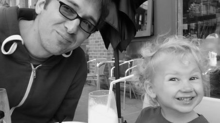 boys with milkshakes b&w 4B