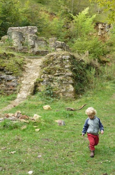 E up Leckhampton Hill_quarry 4B