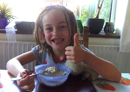 Megan with Apple porridge