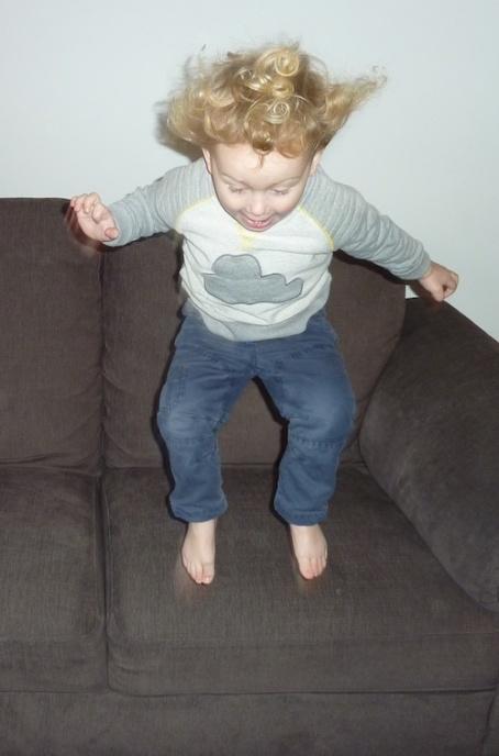 22-1-15 - E jumping off sofa* 4B