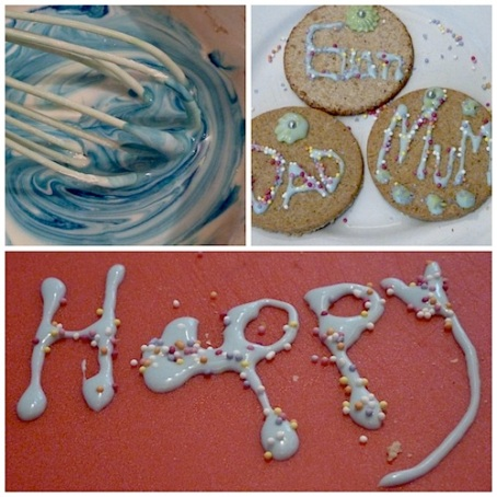 Collage icing biscuits