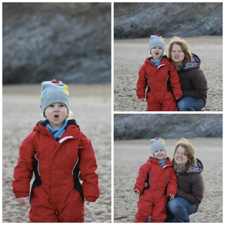 Collage - Pembrokeshire_pulling faces 4B