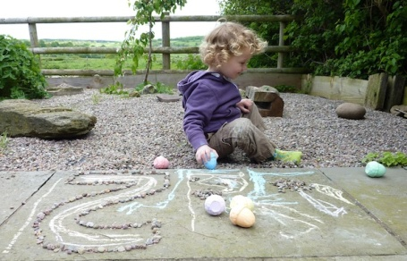 17-5-15 - Farm Cottage chalk drawing 4B