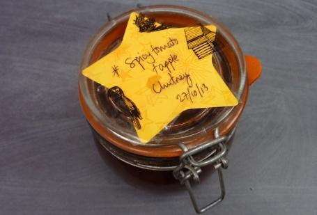 29-9-14 - spicy tomato chutney jar 4B