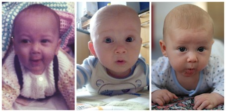 Collage - Moorey boys tummy time