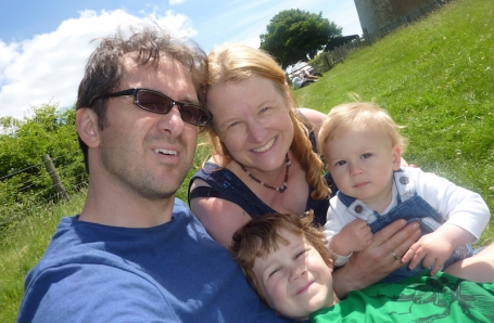 3-6-17 - Bembridge Windmill_family selfie_Me and Mine June copy 4B
