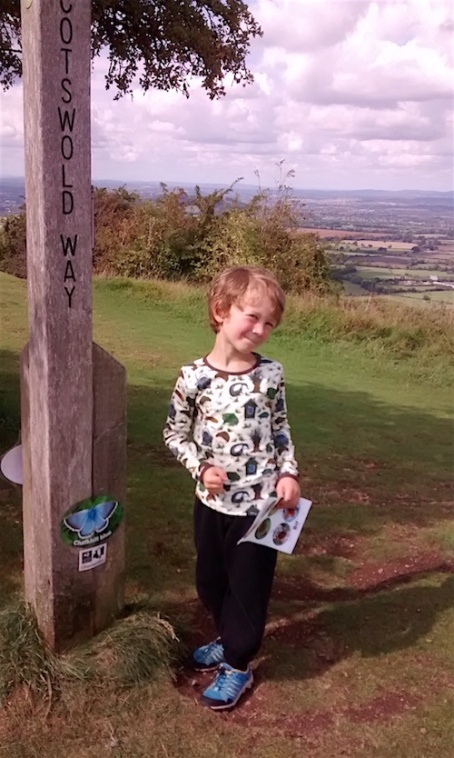 Crickley Hill - E butterfly trail wearing DUNS willow top