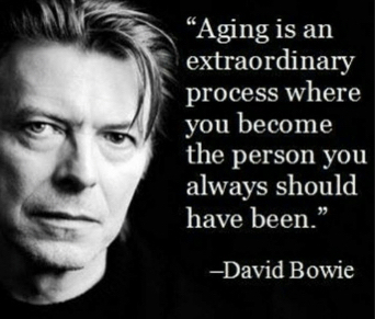 Ageing is an extraordinary process - David Bowie quote copy