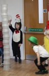 Cat in the Hat party game - tower building with paper bowls - nipitinthebud.co.uk
