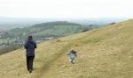 Easter sunday walk Selsley common_Dad and toddler running - nipitinthebud.co.uk