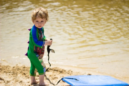 Me and Mine May 2018_toddler by river with body board - nipitinthebud.co.uk